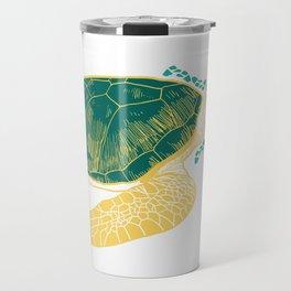 Turtle Yellow Drawing Travel Mug