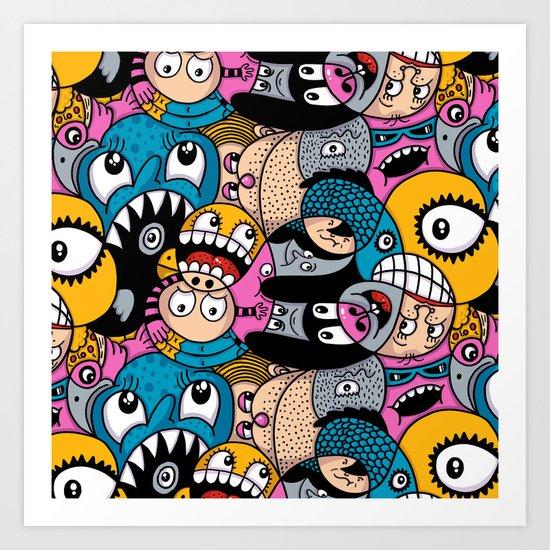 Fishstix Art Print
