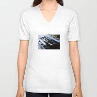 typewriter V-neck T-shirts featuring Typewriter by double U double O