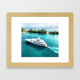 Sailing in the Bahamas Framed Art Print