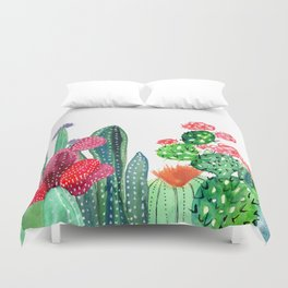 A Prickly Bunch 4 Duvet Cover