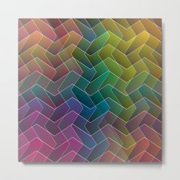 Zigzag & Zigzag 2 Metal Print