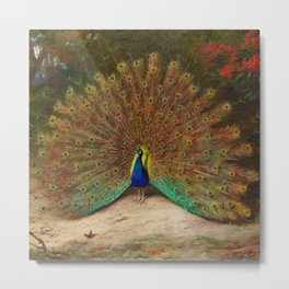 Peacock's Garden by Archibald Thorburn Metal Print