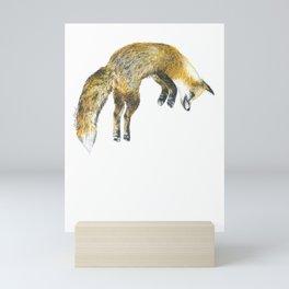Red fox Mini Art Print