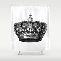 crown Shower Curtains featuring crown by AleDan