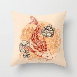 Koi Fish Colors Throw Pillow