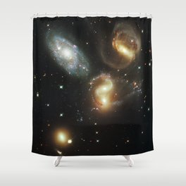 Galactic wreckage Shower Curtain