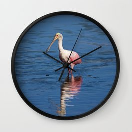 Roseate Spoonbill at Ding V Wall Clock