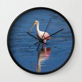 Roseate Spoonbill at Ding V Wall Clock