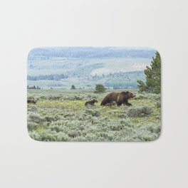 Heading South, No. 2 - Grizzly 399 and Cubs Bath Mat
