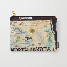 NORTH DAKOTA map Carry-All Pouch