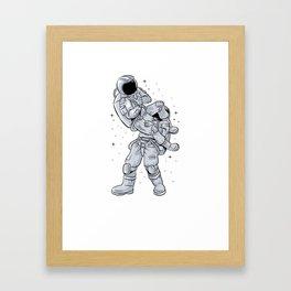 Bjj Astronaut Galactic Flying Armbars Framed Art Print