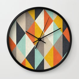 Colorful lozenges Wall Clock