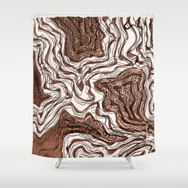 Ink River - Old Pink edition Shower Curtain