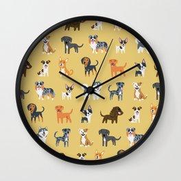 AMERICAN DOGS Wall Clock