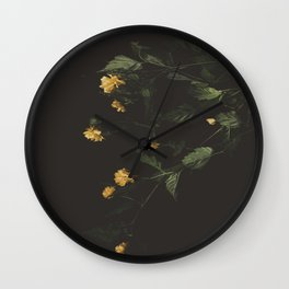 Yellow Night Wall Clock