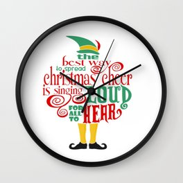 Christmas Elf Wall Clock