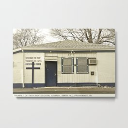 Providence Postcard Project: Trumpet of Faith Pentecostal Church, Smith Hill Metal Print