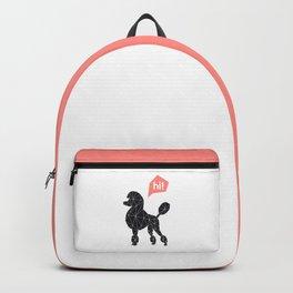 Hi! poodle Backpack
