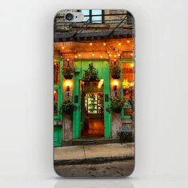 Green Cafe in Old Montreal iPhone Skin