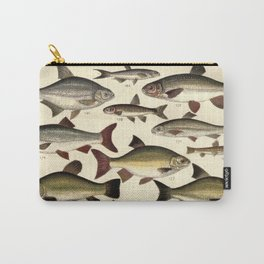 Vintage Illustration of Various Fishes (1902) Carry-All Pouch