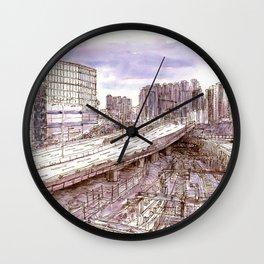 Hong Kong. China. Olympic highway Wall Clock