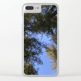 Redwood Tree Tops Clear iPhone Case