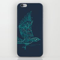 wind iPhone & iPod Skins featuring Wind-Up Bird by Jay Fleck
