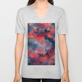 Abstract Texture Digital Painting Unisex V-Neck
