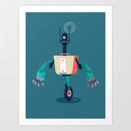 :::Mini Robot-Dynamo::: Art Print