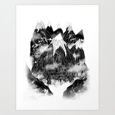 Valley of the Mountain Goat Art Print
