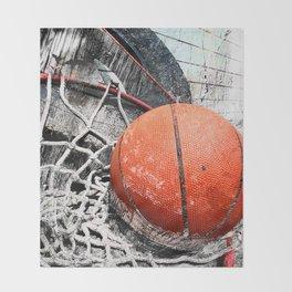 Modern Basketball Art 8 Throw Blanket
