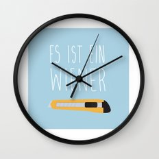 The Wiener Schnitzel Fail Wall Clock