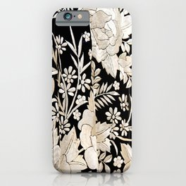 Black and White Flowers by Lika Ramati iPhone Case