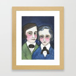 A Moonlit Tale of Grimm, Victorian Writers Portrait, The Brothers Grimm Portrait Framed Art Print
