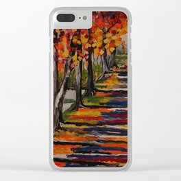 Autumn Tranquility Clear iPhone Case