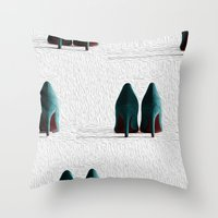 shoes Throw Pillows featuring Shoes by LyssXGold