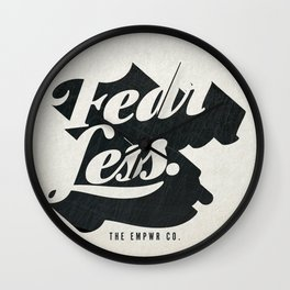 Fear Less Wall Clock