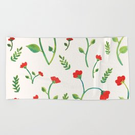 Lush Poppies Beach Towel