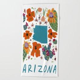 Arizona + florals Beach Towel