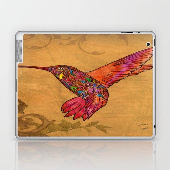colibri in gold Laptop & iPad Skin
