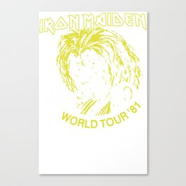 Iron Maiden Killer World Tour 81 Canvas Print