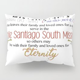 LDS Santiago South Mission Pillow Sham