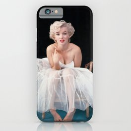 Ma-rilyn Monroe Ballerina Poster, Quality Print, American icon, actress, Vintage Art Photography, Home Décor, Wall Ar iPhone Case