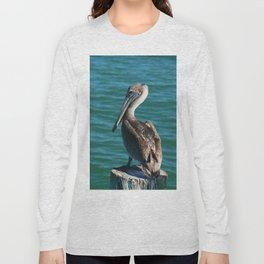 Pelican On A Pole Long Sleeve T-shirt