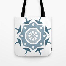 Geometric Arrow and Diamonds in Blues Tote Bag