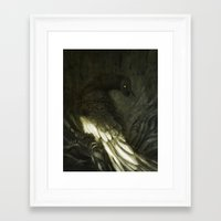 monster Framed Art Prints featuring Monster by Jana Heidersdorf Illustration