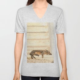 The sun shines on all cats equally Unisex V-Neck
