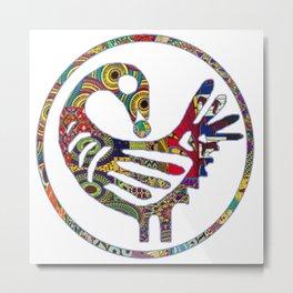 Groovy Sankofa Bird Metal Print