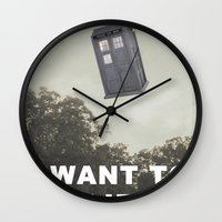 i want to believe Wall Clocks featuring I Want to Believe by Paula Herrera